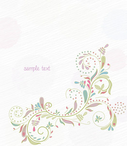 Doodles Floral Background Vector Illustration