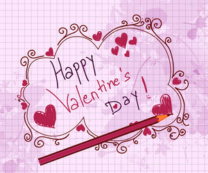 Doodles Valentine Background Vector Illustration