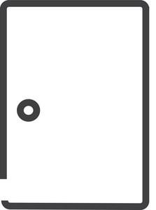 Door 1 Minimal Icon