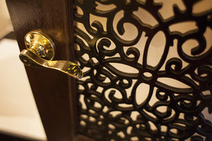 Door handles interior in classic hotel