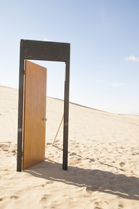 Doorway in desert