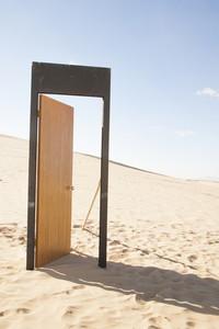 Doorway in desert