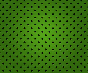 Dots In Green Metal Plate