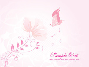 Dotted Background With Creative Floral