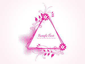 Dotted Background With Isolated Floral Frame