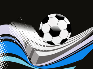 Dotted Background With Isolated Football