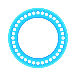Dotted Circle Frame