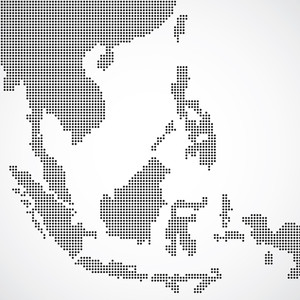Dotted South East Asia