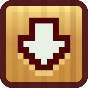 Down Arrow Brown Tiny App Icon