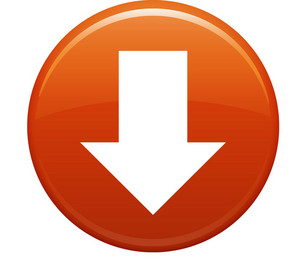 Down Arrow Orange Circle