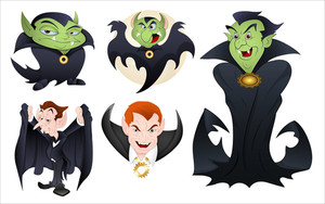 Dracula Vector Illustrations