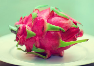 Dragon fruit on the plate