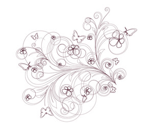 Drawing Art Of Decorative Flourish Elements