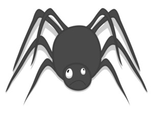 Drawing Art Of Halloween Spider