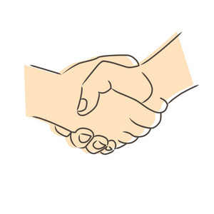 Drawing Of Handshake