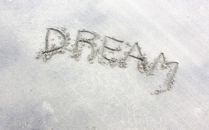 Dream Text On Sand