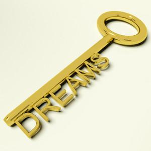 Dreams Key Representing Hopes And Ambition