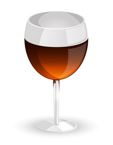 Drink Glass Vector Design