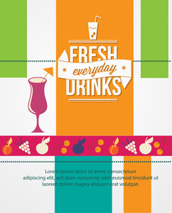 Drinks Advertisement (editable Text)