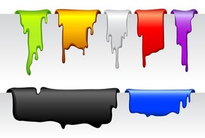 Dripping Bookmarks. Vector.