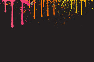 Dripping Paint - Vector Background