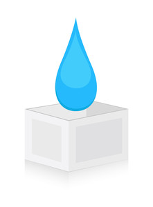 Drop On Box Vector