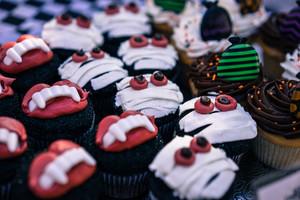 ハロウィーンのカップケーキ