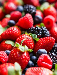 Closeup Of Fresh Berries(raspberries
