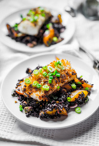 Grilled Fish With Black Rice