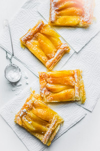 Apple Tart On White Background