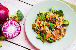 Brown Rice With Vegetables(onions