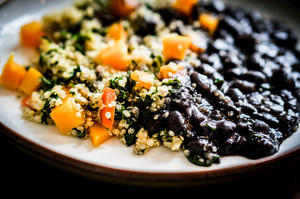 Quinoa With Vegetables And Black Beans