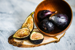 Figs On Wooden Background