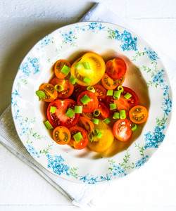 Colorful Tomatoes With Onion