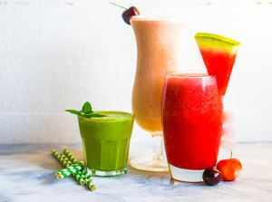 Colorful Smoothie Cocktails