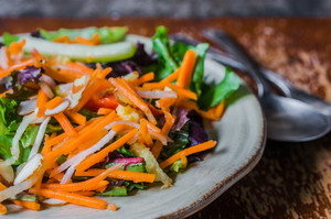 Healthy Salad With Carrot