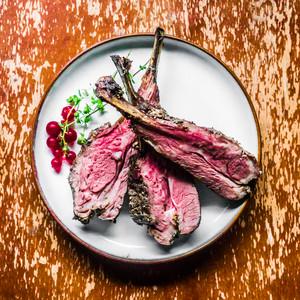 Closeup Of Grilled Lamb Chops