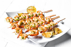 Grilled Shrimp With Limes