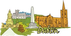 Dublin Vector Doodle