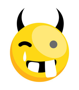 Dumb Funny Devil Smiley