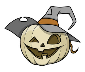 Dumb Jack O' Lantern Vector Illustration