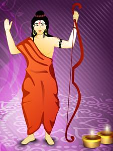 Dussehra Festival Background. Eps 10.
