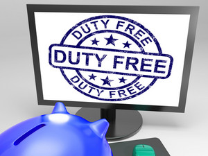 Duty Free Stamp Shows Untaxed Purchase Stamp