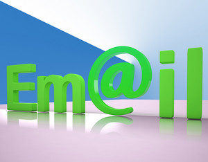 E-mail Letters Shows Emailing Correspondence Or Contacting