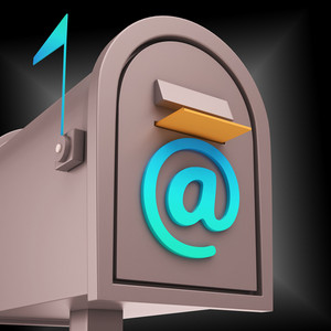 E-mail Postbox Shows Online Communication Through Internet