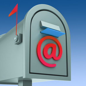 E-mail Postbox Shows Sending And Receiving Mail