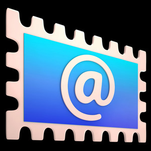 E-mail Stamp Shows Online Mailing Communication Post