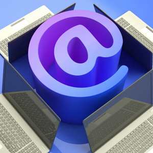 E-mail Symbol Laptops Shows Mailing On Web