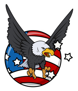 Eagle And Flag America Patriotic Design