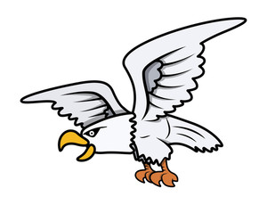 Eagle Cartoon Vector Illustration